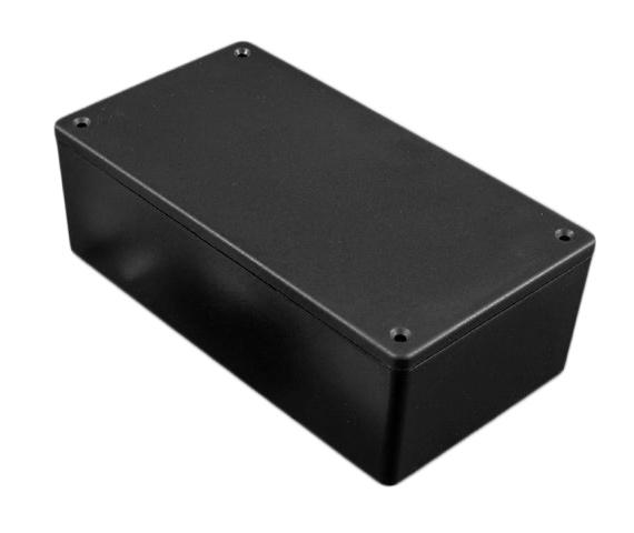 Univerzális műanyag doboz 86x57x24mm, fekete, IP54 BOX HM1591XXMSBK