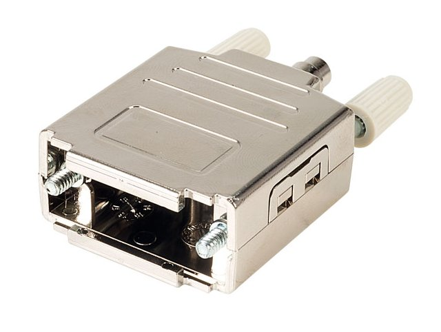 D-SUB 9p. fémház kézi csavarral CS-DS009MMHK/3
