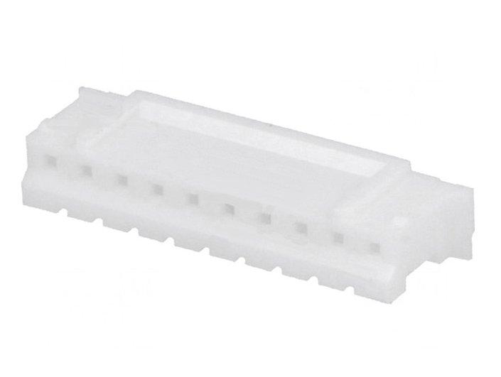 Egysoros csatlakozó dugó anya (üres ház) DIV-PH 10p. táv. 2.0mm CSAT-17102A