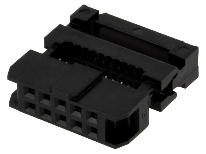 Kétsoros csatlakozó anya 10p. 2.0mm lábtáv CSAT-20B101/A