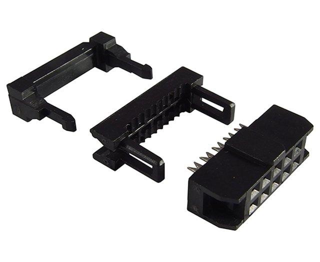 Kétsoros csatlakozó anya 10p. 2.0mm lábtáv CSAT-20B101/A -