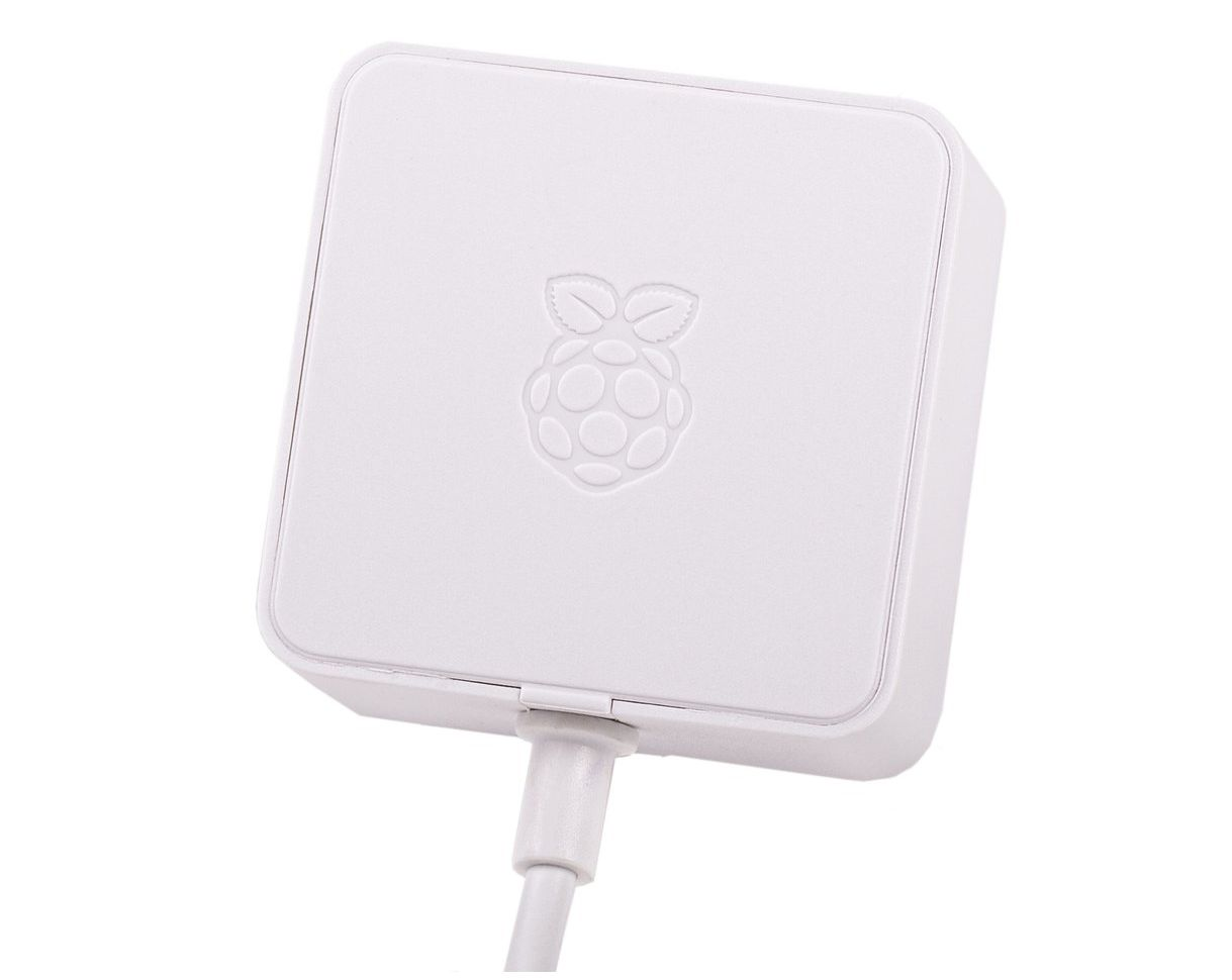 Raspberry adapter 90...264VAC fix 5.1VDC 3.0A USB-C dugó fehér P.SUP Raspberry 4 Whi -