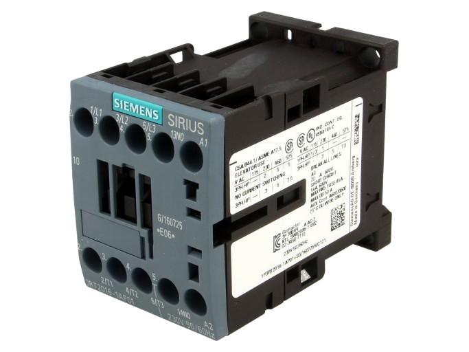 Mágneskapcsoló 690V 9A 3p. 230Vac 4kW RELAY-3RT2016-1AP01