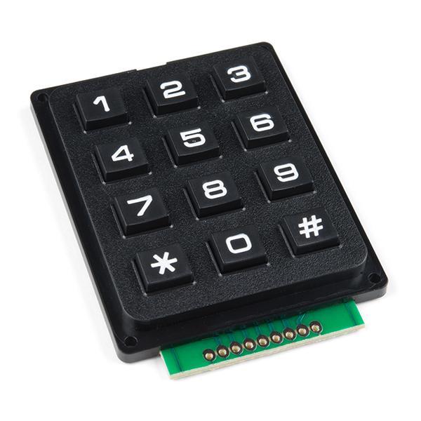 12 gombos keypad / tasztatúra / nyomógomb mátrix - fekete SW KEYPAD 012