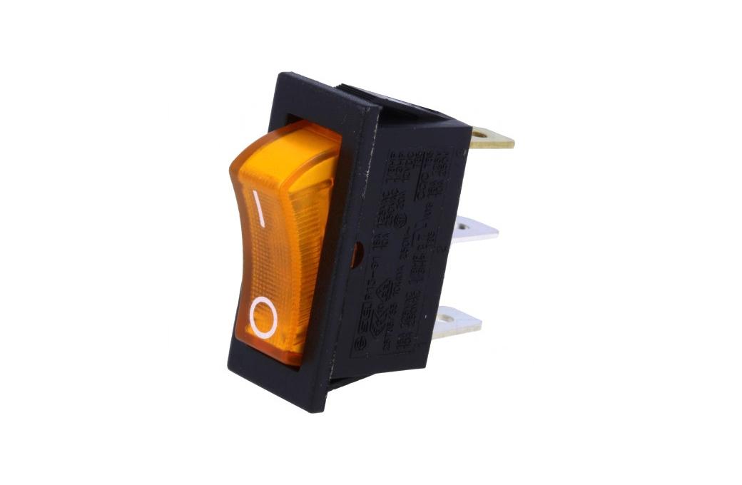 Billenő narancs, világító I/O1 áramkörös ON-OFF, 10A...16A SW2102B/O