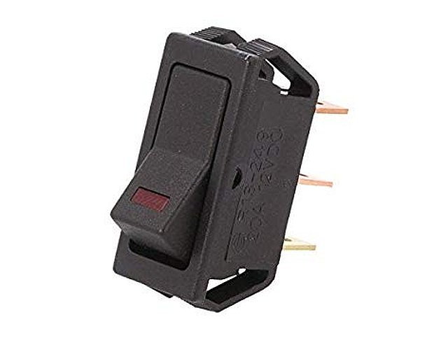 Billenő fekete 1x20A/12V 1 áramkörös ON-OFF (LED kontroll) SW2110/R