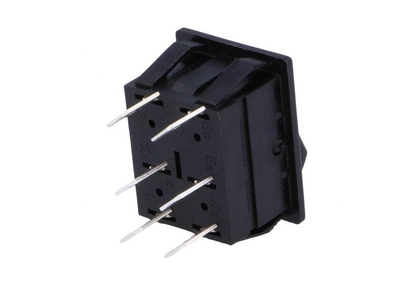 Billenő fekete 2 áramkörös monostabil ON-(ON) SW2221/1 -