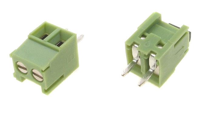 2 pólusú sorkapocs 3,5mm nyákos, zöld TB-002/3.5G