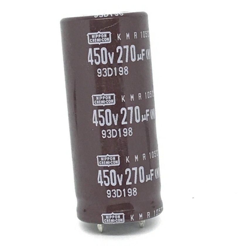 ELKO 270uF 450V 105°C 22x50 2p. Snap-in 270/450-105- KMW