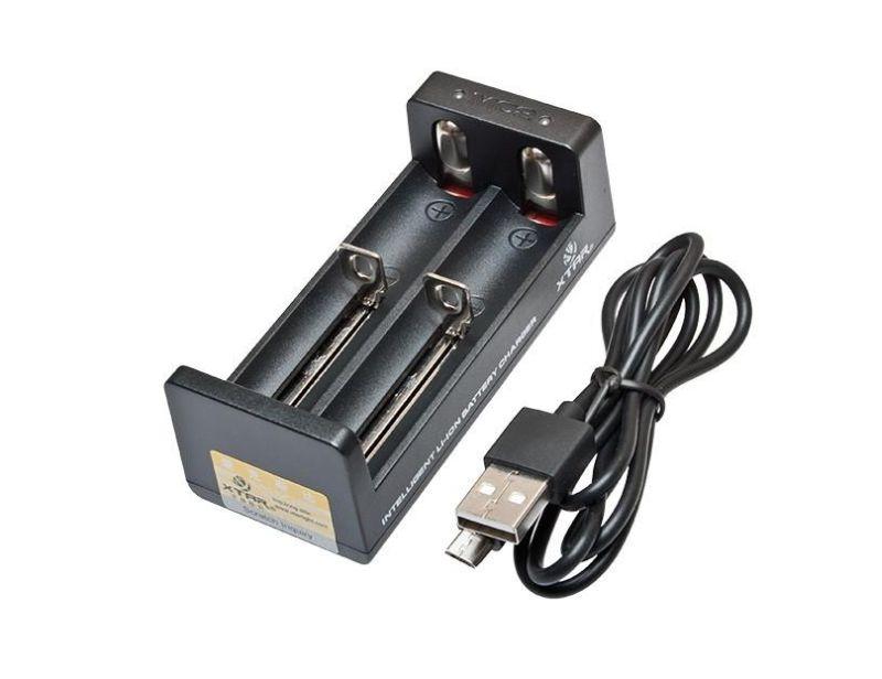 Lítium két csatornás akkumulátor töltő XTAR MC2, LED jelzés, 2db cella töltésére ACCU CHARGER-10