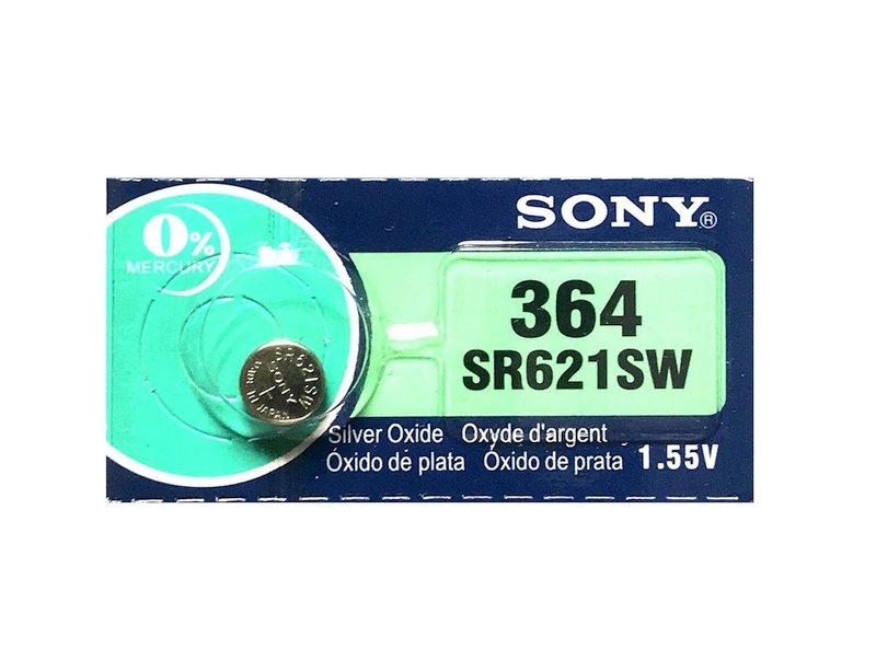 1.55V Ezüstoxid óraelem SONY 364, SR60, SR621SW BAT 364