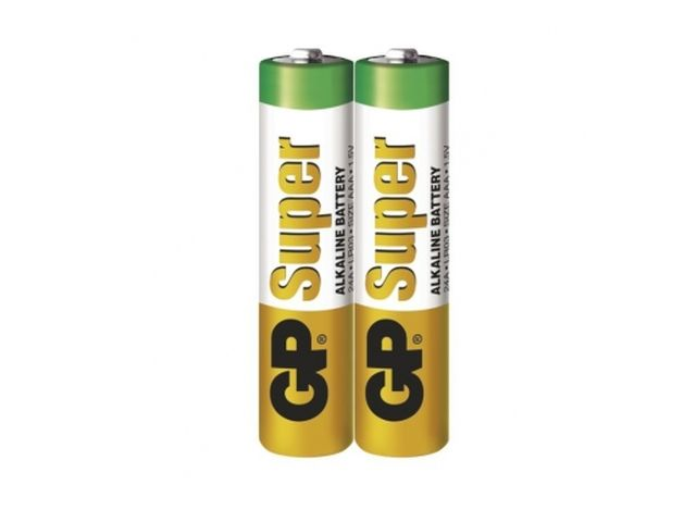 1.5V 2db LR03 AAA Super Alkáli elem (fóliás) BAT LR3/2 GP.F