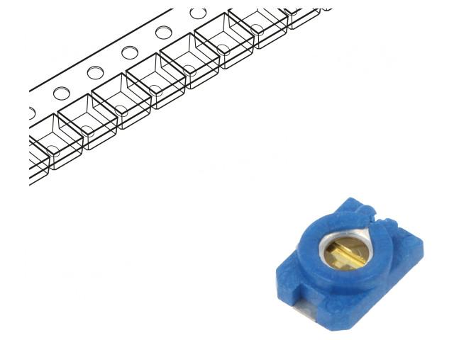 Trimmer kondenzátor, kerámia, SMD 2-6pF NP0 C-CTSMD/2-6 -
