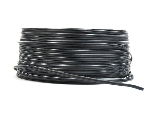 Hangfalkábel lapos 2x0.41mm2 OFC (fekete-fekete+fehér csík jelölés) CABLE LSP0.41BBW -