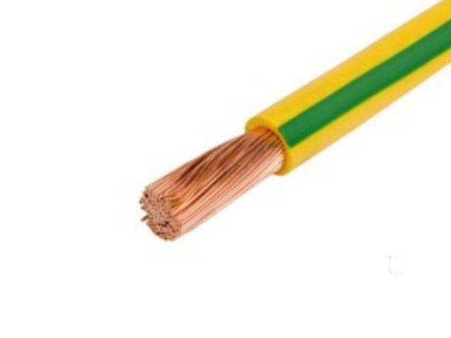 MCSK 1.0mm2 zöld/sárga 1eres kábel, sodrott érrel CABLE MCSK1.0Z/S