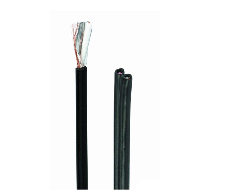 KOAX Kábel RG59U/B 75R 6.2mm multikábel (koax +2eres táp) COAX-003B