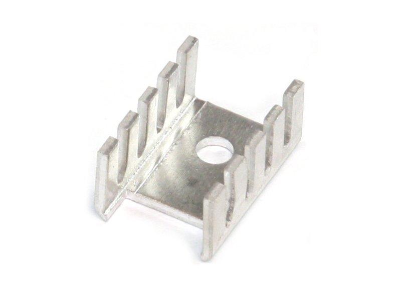 Hűtőborda TO220 & TO202 19x13,2x9,53mm, (natúr alumínium) COOL.D02AL
