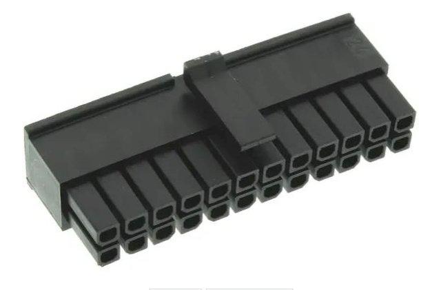Kétsoros csatlakozó, üres dugó 24p. (2x12) lábtáv. 3.0mm CSAT-22240