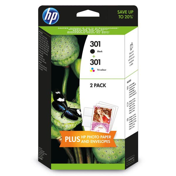 Tintapatron csomag: HP E5Y7EE (301 duo pack 1fekete, 1színes) I000263M2