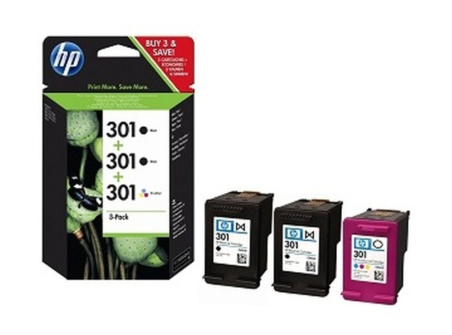 Tintapatron csomag: HP E5Y7EE (301 trio pack 2fekete, 1színes) I000263M3