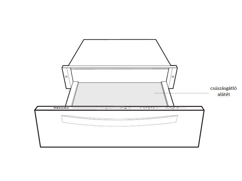 Miele edénymelegítő fiók csúszásgátló alátét 450x438x0,7 M5-8126860