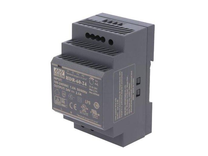 SMPS tápegység 85...264VAC 60W 24VDC 0...2,5A sínre szerelhető P.SUP.HDR6024