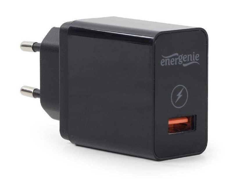 100...240VAC adapter Gembird QC3.0 USB töltő P.SUP.USB-EG-UQC3-01
