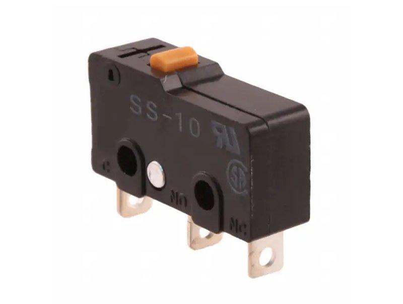 Mikrokapcsoló 10A 250Vac ON-(ON) 3p. 20x10x6.4mm SW11500B