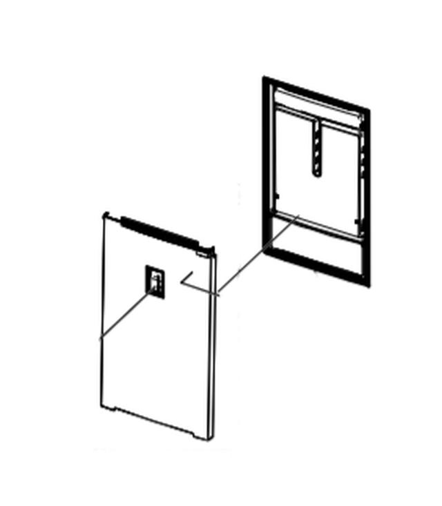 Hűtő ajtó W8-DA9104900E