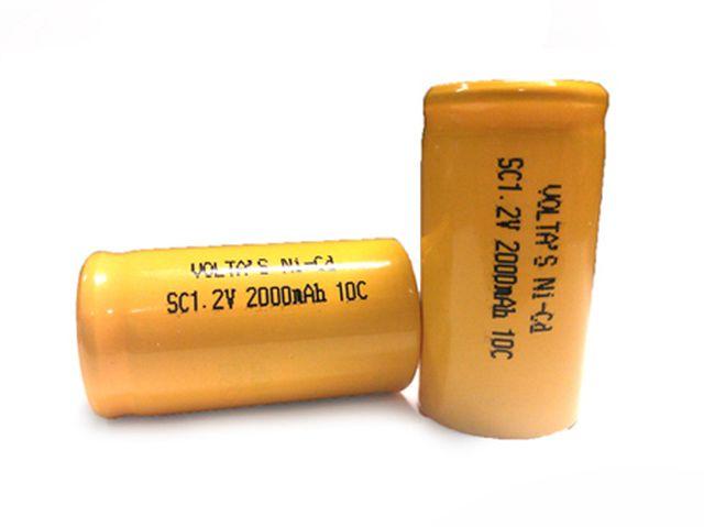 Ni-Cd 1.2V 2000mAh akkumulátor 23x43mm Sub-C ACCU-1.2/2000C