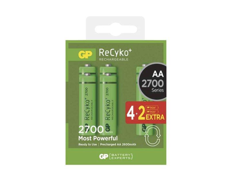Ni-MH 1.2V 2700mAh akkumulátor 6xAA ceruza, ReCyko ACCU-R6 2700-6BR