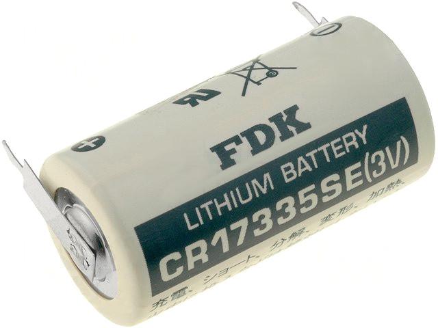 3V PLC Lítium elem CR17335E-PCB 17x33.5mm 2p. FDK BAT CR17335E