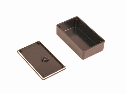 Univerzális doboz 120x70x40mm fekete BOX KM55