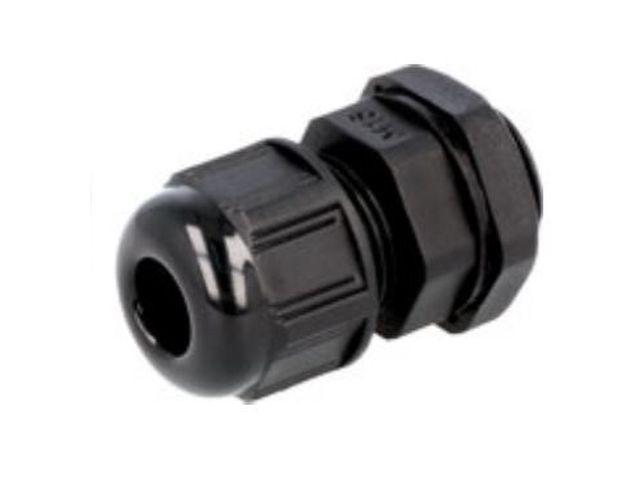 Műanyag tömszelence fekete AG-12 CB-AG12B-IP68 -