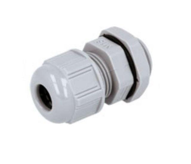 Műanyag tömszelence sötétszürke AG-12 CB-AG12GD-IP68