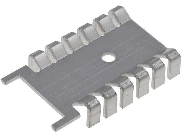 Hűtőborda TO3P 31.6x22x6.7mm (natúr alumínium) COOL.TO3PAL