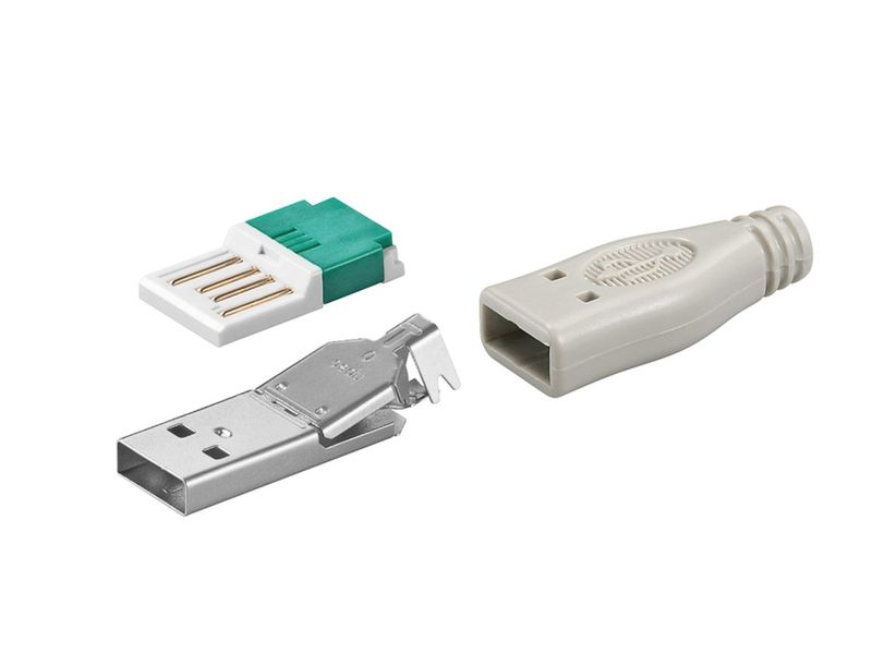 USB-A dugó 4p. (lengő, szürke házzal) CSAT-USB-A/WGR