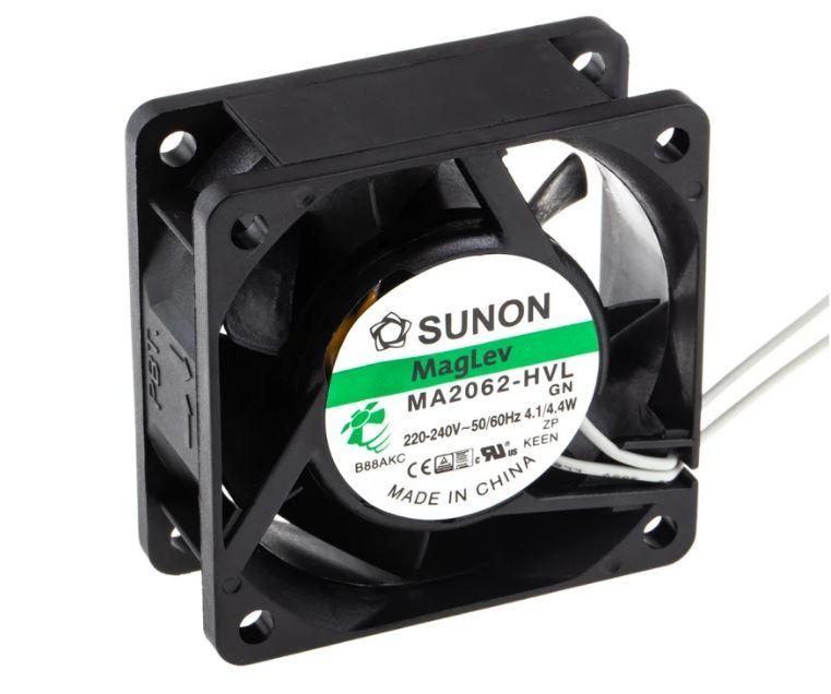 230V ventilátor 60x60x25mm MA2062-HVL.GN CY 230/06025V