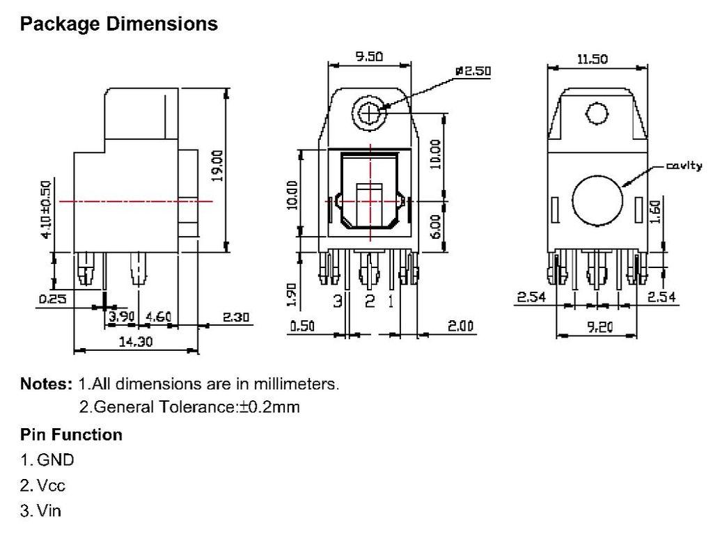 Toslink aljzat, optikai adó, OTJ-5 FCR684205T
