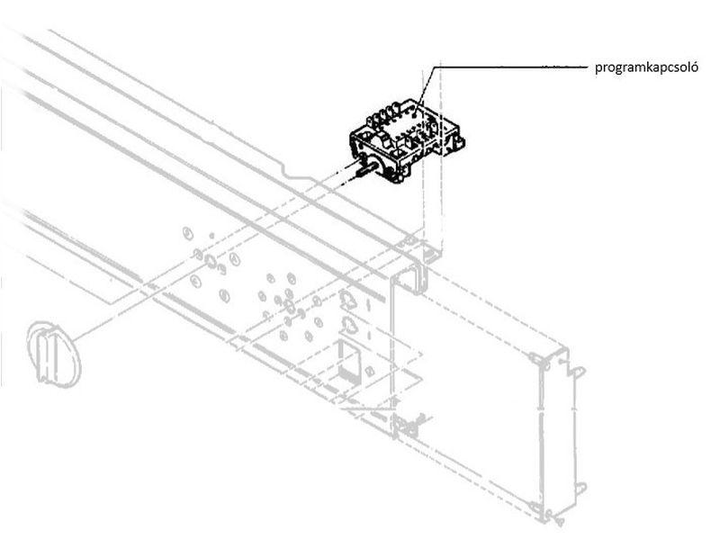 Miele Professional szárítógép programkapcsoló egység 6CH/155 M1-2684601