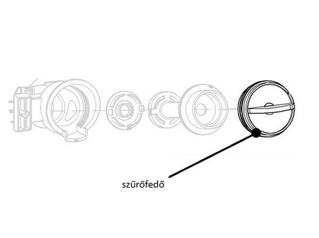 Miele mosógép szűrőház szűrőfedő M1-4726161 -