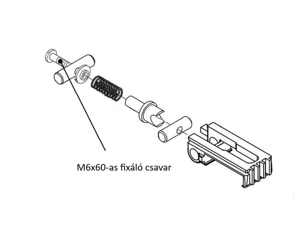 Miele mángorló fixáló csavar M1-5637040
