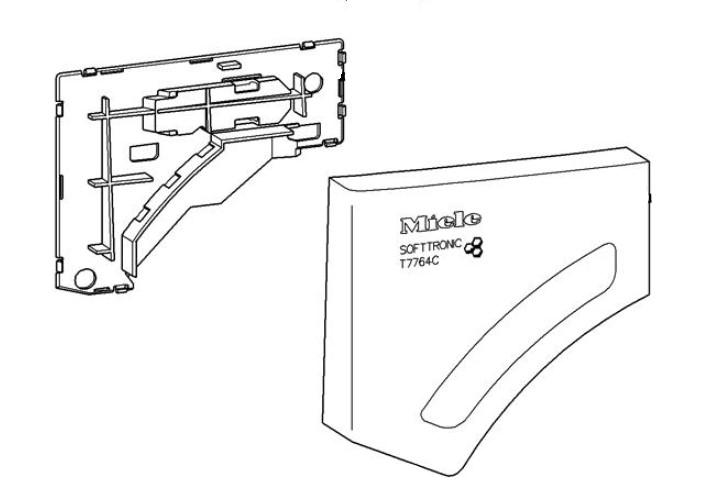 Miele száritógép kond. tartály előlap M1-7300740