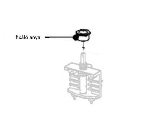 Miele beépített olajsütő fixáló anya M5-4980590