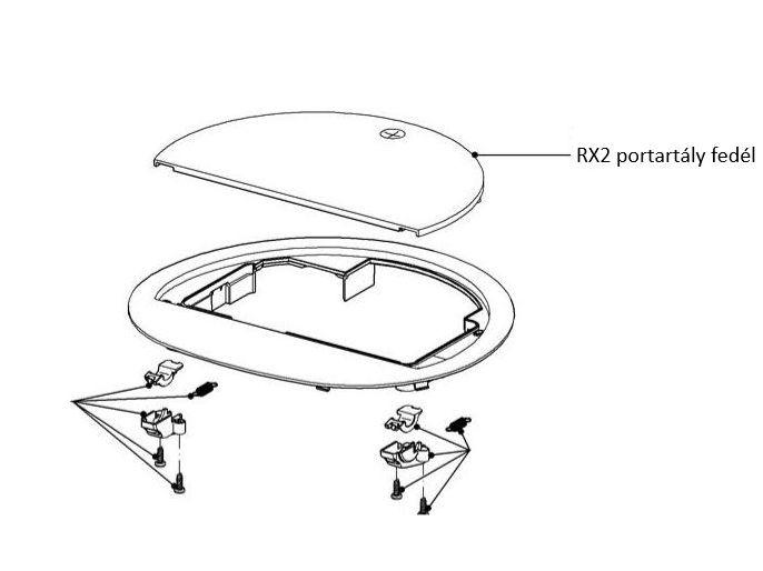 Miele robotporszívó RX2 portartály fedél M7-10543170