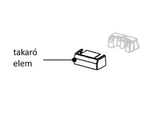 Miele hűtő alsó csapágytömb takaró elem M8-9538250