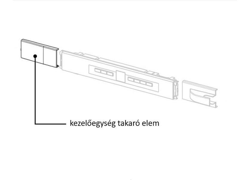 Miele hűtő kezelőegység takaró elem M8-9538270