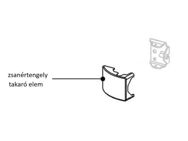 Miele hűtő zsanértengely takaró elem M8-9580890