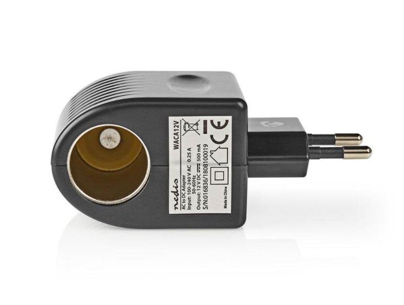 100...240VAC adapter 12VDC 500mA 6W szivargyújtó aljzat P.SUP.0500/2