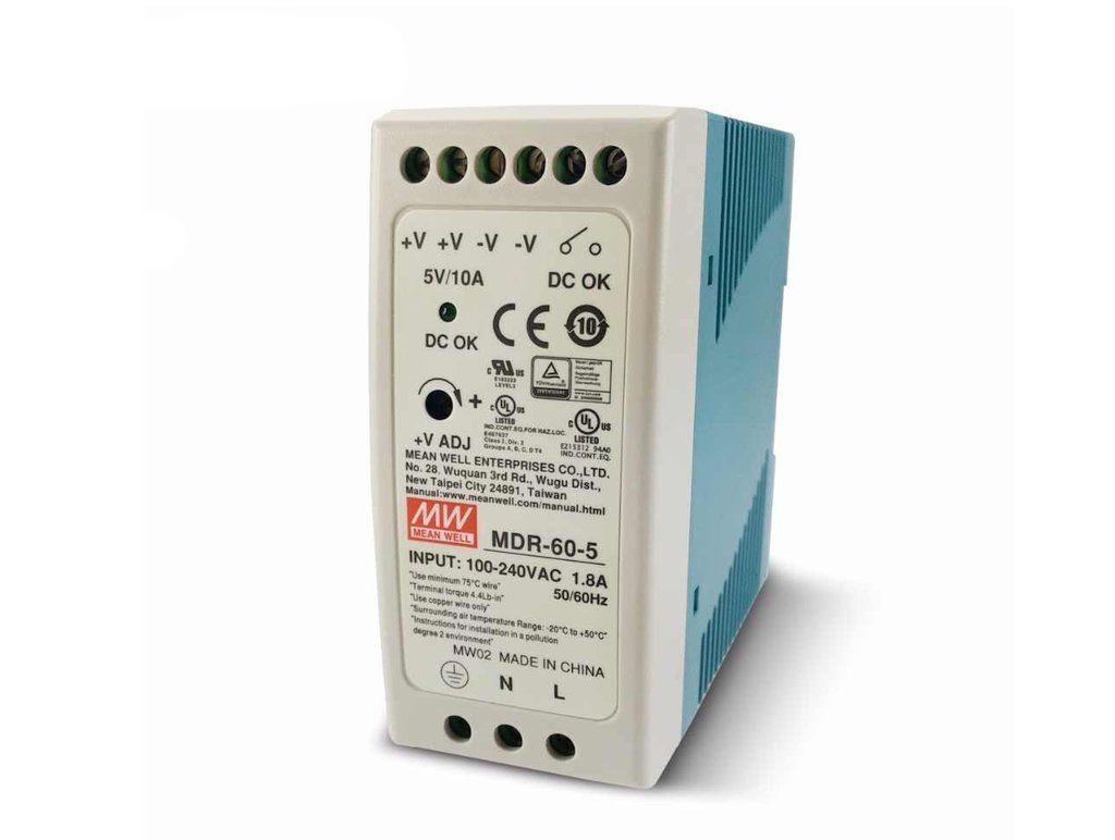 SMPS tápegység 230VAC 60W 24VDC 2.5A sínre P.SUP.MDR6024